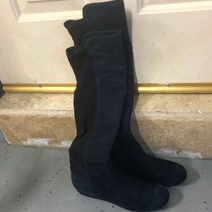 Stuart Weitzman over the knee boots suede